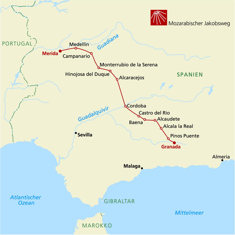 Jakobsweg Franken Karte.Camino Mozárabe Mozarabischer Jakobsweg 3 Etappe Von Orense