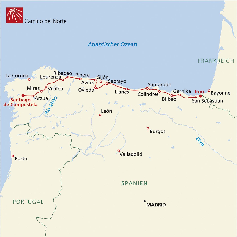 Jakobsweg Franken Karte.Jakobsweg Camino Del Norte Camino De La Costa Teil Ii