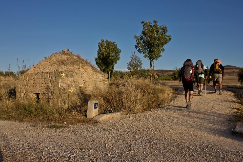 Pilger auf dem Camino Frances