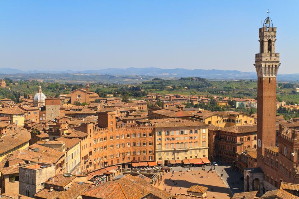 Wandern in der Toskana - Siena