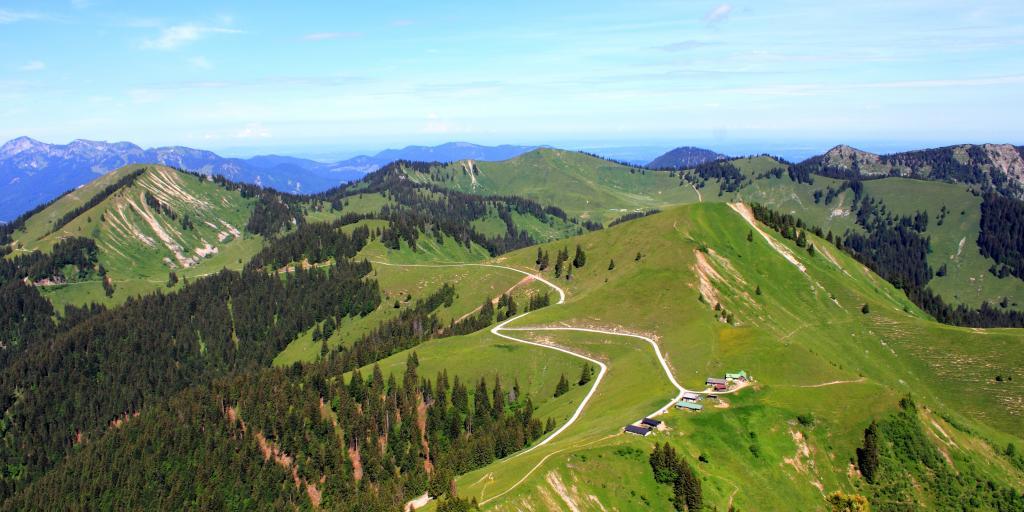 Wandern in Oberbayern ideale für individuelle Wanderreisen, geführte Gruppenwanderungen