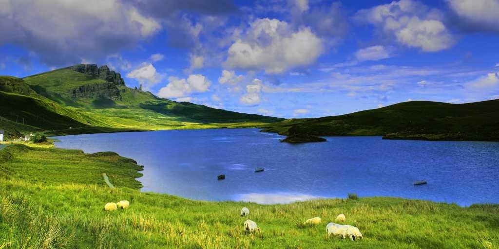 Wandern ohne Gepäck in Schottland