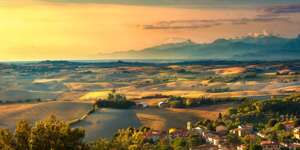 Toskana: Individuell wandern ohne Gepäck im Val d'Orcia von Montepulciano nach Siena