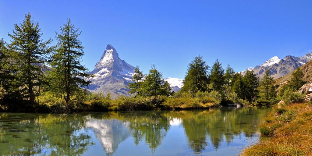 Wandern im Wallis: Matterhorn und Alletschgletscher