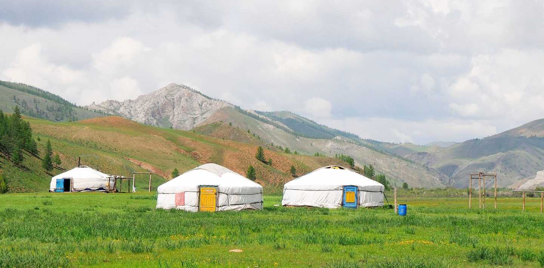 Wandern in der Mongolei - Heimta des Changai-Gebirges