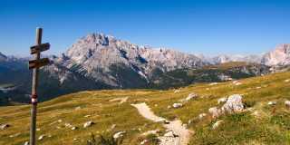 Wandern im Naturpark Dolomiten in Südtirol