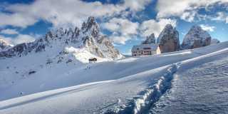 Winterwandern in den Dolomiten